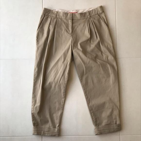 Anthropologie Pants - Anthropologie Cartonnier Pleated Crop Pants